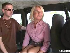Picking Up A Business Woman Paid Hardcore in the Van