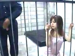 Japanese teen fucked hard in female prison