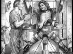 Classic And Vintage Horror Artwork bdsm bondage slave femdom domination