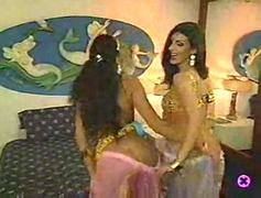 Two Exotic Arabian Muslim Belly Dancers enjoy Big Western Republican French Penis Size