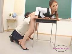 Asian Teacher Licked And Fingered By Her sexy Student