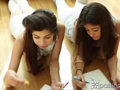 Passion-HD Teens take a break from studying to fuck