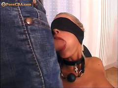 Blonde with incredible round ass bdsm film