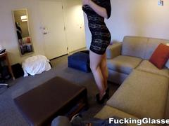 Fucking Glasses - Cock rider with bouncy boobs
