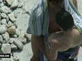 Beach voyeur watches couple getting dirty
