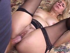Multiple creampies in stretched fuck holes for horny hooker