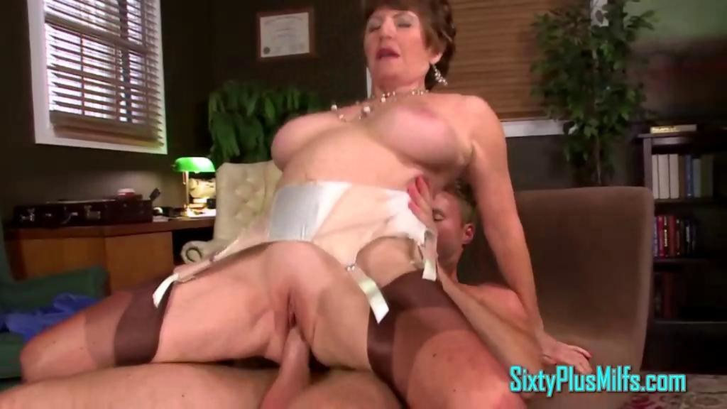 Brunette milf amanda sucking huge white cock outdoors - 2 part 3