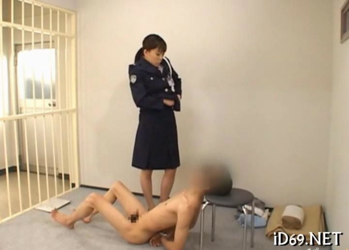 Prison naked women handcuffed