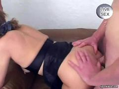Granny enjoys facial and anal sex