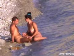 Horny wife exposed on voyeur beach