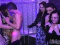 Nightclub orgy session featuring ravishing dames