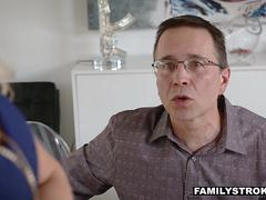 FamilyStrokes - Hot Milf Vanessa Cage Fucked By Stepson