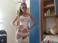 hot bunny shows her boy clip