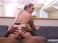 Fat ass busty blonde Nina Kayy gets interracial anal fucked