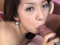 Sucking a fat dick then she gets fucked dearly