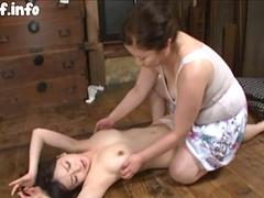 Old Woman Lesbian Licking Younger Japanese