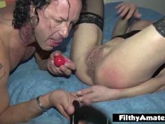 Pulling anal balls out! Awesome orgy with Italian whores!
