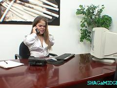 Office Play With Gorgeous Midget Babe