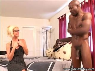 Interracial Sex For White Blonde Wifey