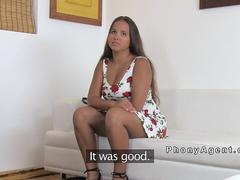 Natural busty brunette bangs fake agent