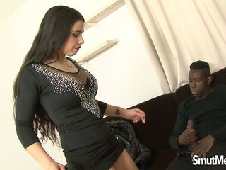 slut mira cuckold takes a huge black dick in her ass and is creampied