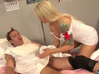 hot brooke haven plays nurse with huge cock