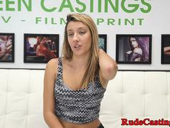 Teen babe hardfucked at casting audition