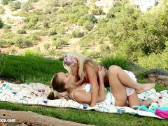 Meadow Tonguing by Sapphic Erotica - lesbian love porn with Hailee - Mya