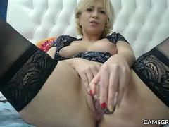 Delicious Big Tits Camslut Hitachi Cumshow