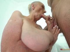 Horny Guy Fucks Big Fat Granny