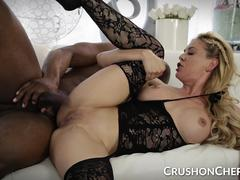 CrushGirls - Cherie Deville sucks and fucks a big black cock
