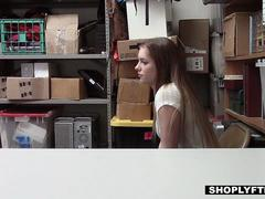 ShopLyfter - Security Officer Cums On Teen Thief