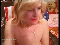 Dirty 60yo Granny Fucks All 3 of Her Holes on Cam
