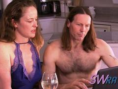 Curious swinger couple hooks up with strangers and fucks on camera