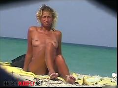 amazing nudist hotties bathing in sun at the beach video