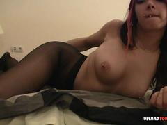 Black pantyhose and very horny
