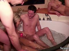 German Daughter and Step-Mother in Group Sex Party