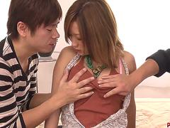 Aika is naked and ready for the full threesome in hardcore - More at Pissjp.com