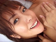 Cute petite Asian babe blowing cock and fucking like a slut