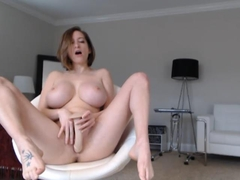 Huge tits babe toying her pussy video 2