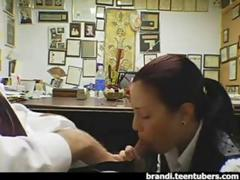 Boss gets a Blowjob from Teen Employee