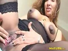 Look at mature Celeste enjoying that rubber cock