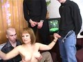 Mature babe gets fucked by her boyfriend and his friends
