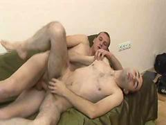 Awesome hardcore gay bareback with nasty cumshot