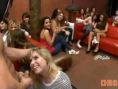 Bachlorette party turns blowjob 11