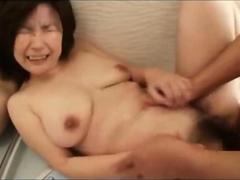Japanese mature gets a hard fuck in the bathroom