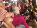 Crazy sex party with a dancing bear goes nuts