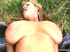 Busty Wife Treats Her Husband To A Picnic Fuck