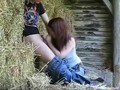 Redneck Farmer Teen Fucks In The Hay