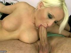 Hot busty blonde getting fucked pretty hard